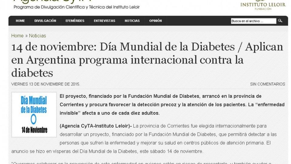 Agencia CyTA, 14-11-2015