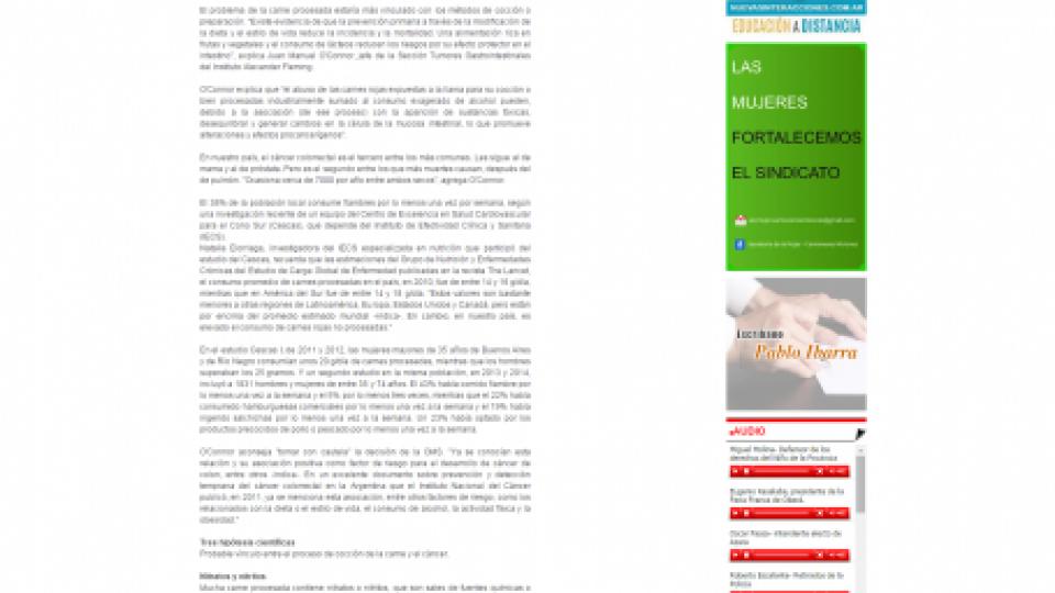 Agencia Hoy Carne procesada 30 10 2015
