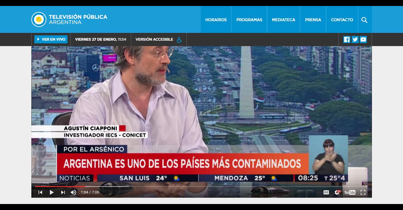 Arsenico Agustin TV Publica