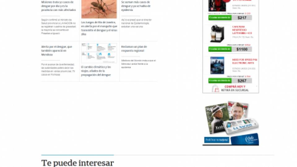 Dengue La Nacion 22.01.2016