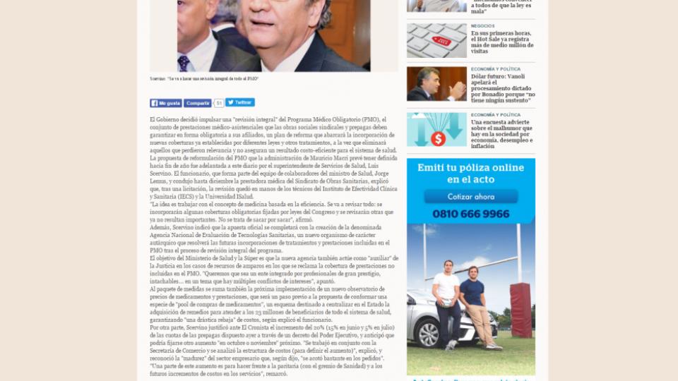 El Cronista 10 05 2016