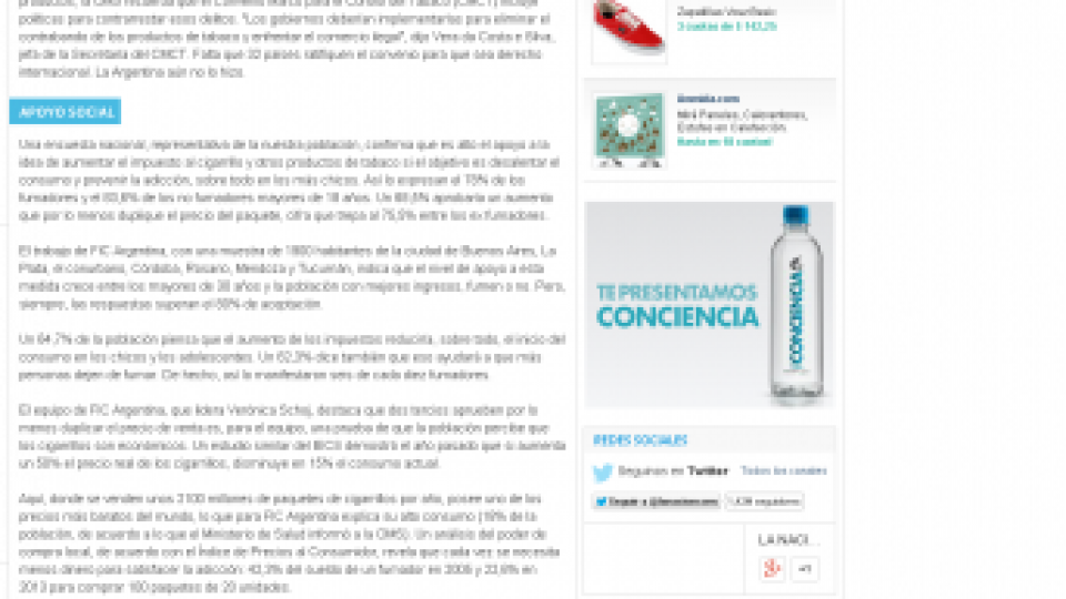 La Nacion 09 07 2015 tabaco e impuestos