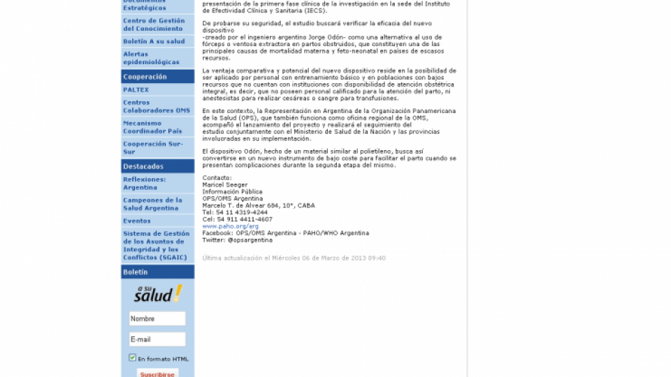 Odon en IECS PAHO marzo 2013.jpg