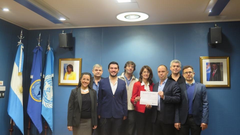 Premio OPS al IECS foto grupal