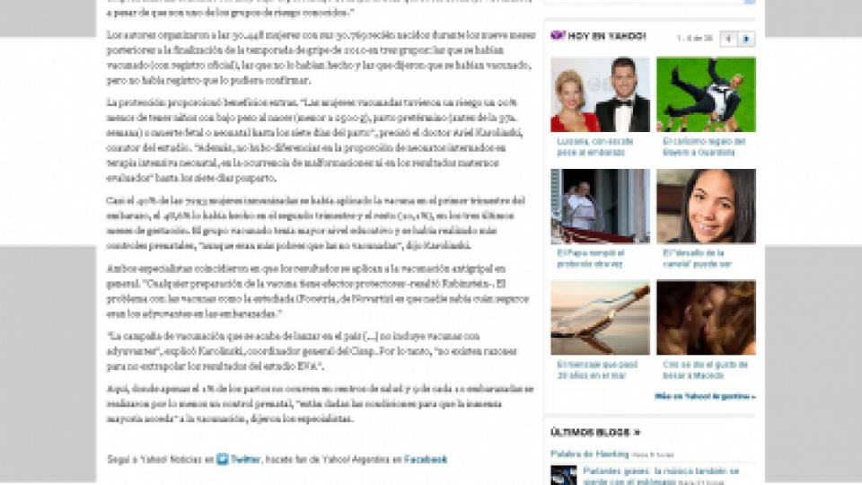 Yahoo Noticias gripe A 21 03 2013