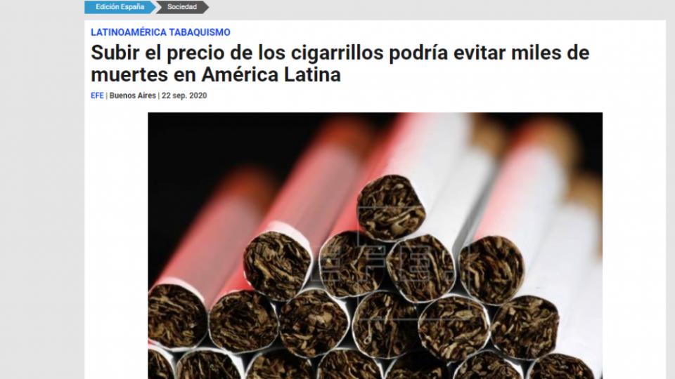 noticia EFE tabaco